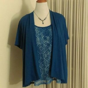 Notations Tops - Layered Blue Top!