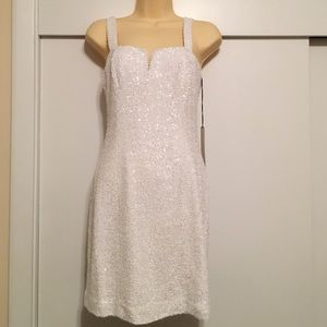 Jay Godfrey White Sequin Dress sz 2 NWT