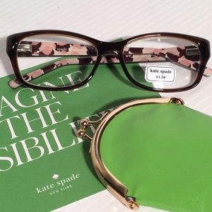 Price Drop!❤️Kate Spade +1.50 Reading Glasses