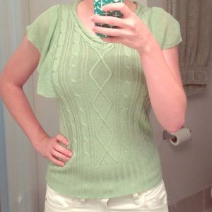 Green Knit Top