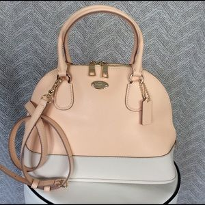  Sale!! NWT Coach Cora Dome Satchel Peach 