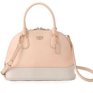 Coach Cora Dome Satchel Peach
