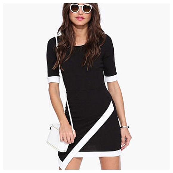 Asos Petite Dresses Nwot Little Black Bodycon Dress W Envelope
