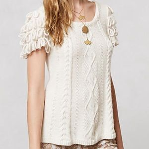 Anthropologie Short-Sleeve Sweater