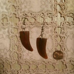 Jewelry - Handmade Artisan Faux Bear Claw Boho Earrings