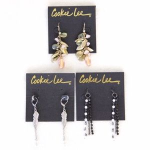 Cookie Lee Jewelry - ♦️SALE♦️3 Pairs of Cookie Lee Earrings