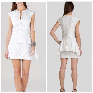 """BCBG Dresses & Skirts - BCBG """"ISABEL"""" PEPLUM DRESS IN WHITE NWT's"""