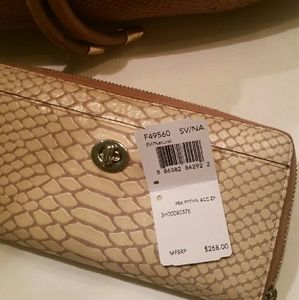 COACH Park Python Accordion Zip Wallet SALE!!