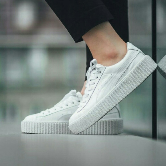 puma creeper rihanna white