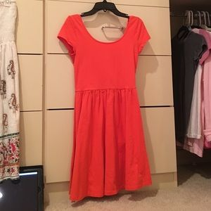 ⭐️LOWERED PRICE⭐️ Orange Skater Dress ⭐️
