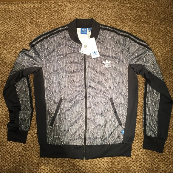 Womans adidas shell tile superstar track jacket. Boutique