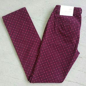 88 Off Loft Pants 🎉host Pick 🎉 Loft Purple Skinny
