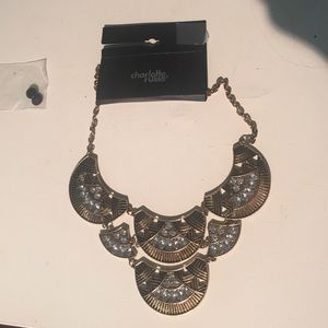 NWT Gold Statement Necklace