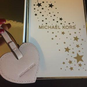 Michael Kors ballet heart key charm in a box.