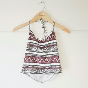 SALE 🎉 Tribal Print Halter Summer Crop Top Beach