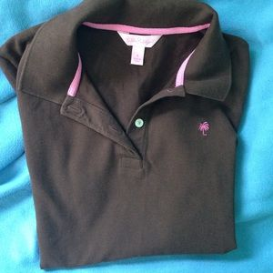 Brown Lilly Pulitzer polo