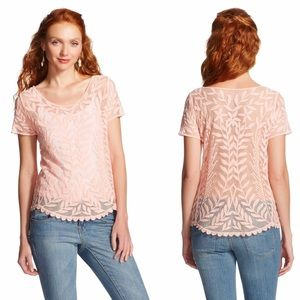 Xhilaration | Embroidered sheer lace top