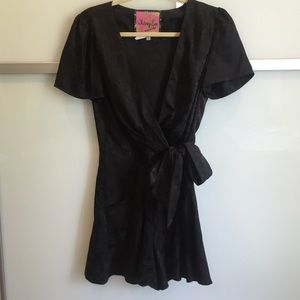 Whitney Eve Dresses & Skirts - Whitney Eve Floral Black Romper size Small