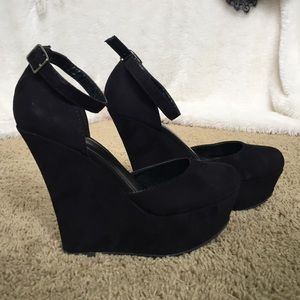 Shoes - Black Heels with ankle straps