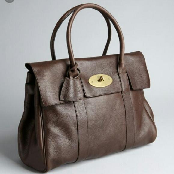 Mulberry Bayswater Chocolate Leather Handbag. M 574b3b0141b4e011db009068 e47fff3328efc