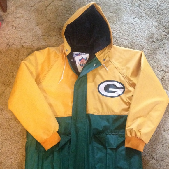 size 40 7e69b ecae7 Green Bay Packers Rain Jacket NWT