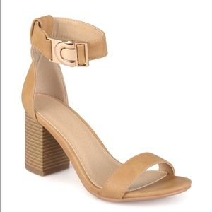 Shoes - Liliana Nude Platforms Sandals new with box size 9