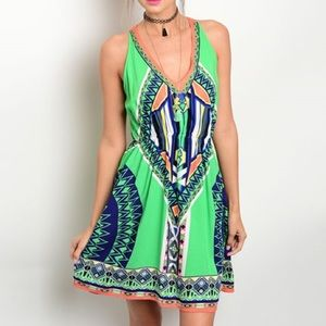 Kaleidoscope Halter Dress