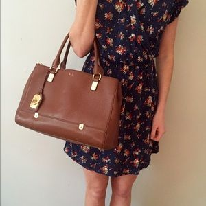 2043c4d75b Ralph Lauren Bags - Ralph Lauren brown leather purse