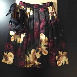 H&M {Rare} Conscious Collection Flower Midi Skirt
