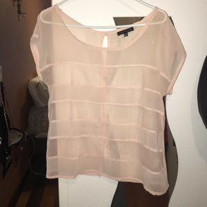 Blush  mesh see through top