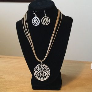 Boho Necklace & Earring Set