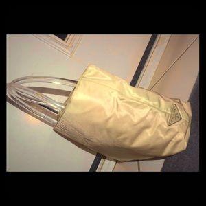 Nylon Prada satchel with Lucite Handles