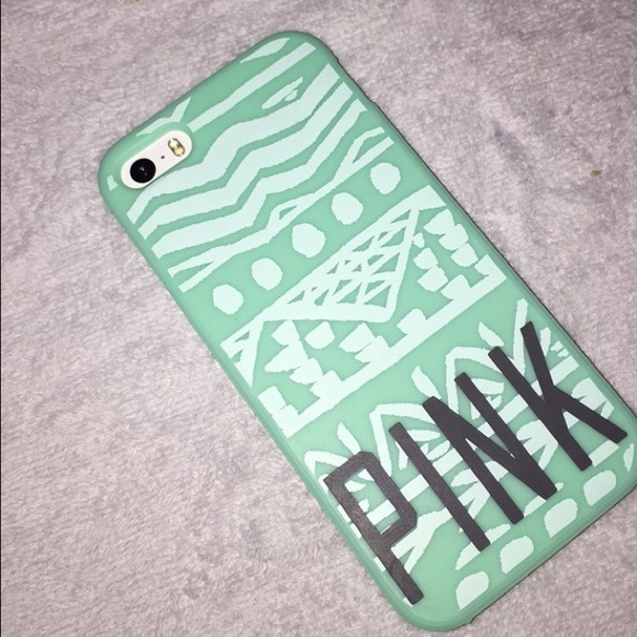 Mint Green Victoria's Secret Pink IPhone 5/5s Case