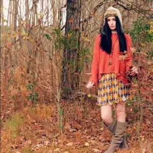 Free People S Orange Everlasting Knit Sweater