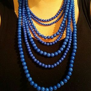 Baublebar  Jewelry - Bauble Bar Cobalt Blue Beaded Strands Necklace