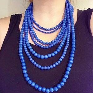 Baublebar Jewelry - Bauble Bar Cobalt Blue Beaded Strands Necklace
