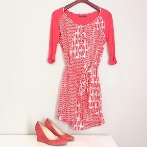 Velvet by Graham & Spencer Sheer Tie-Waist Dress