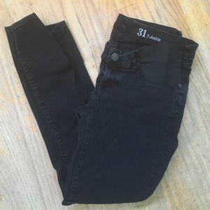 J. Crew Denim - J. Crew Tall Black Maternity Skinny Jeans