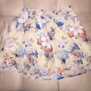 Skater skirt with colorful flower designs