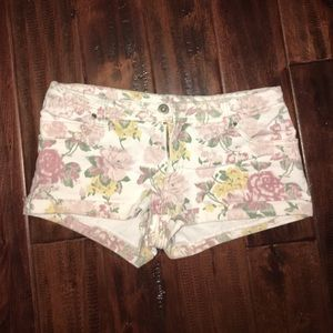 Pastel floral shorts