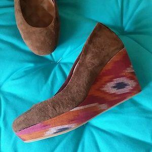 REEF Shoes - Reef Southwestern Ikat Wedges, Size 8.5