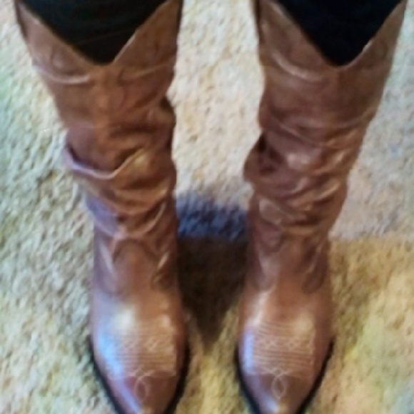 new list low price sale price Kaya Soft Leather Slouch Cowboy Boots