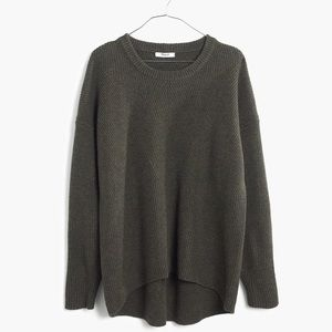 Madewell Sweaters - Oversized Olive Green Pullover