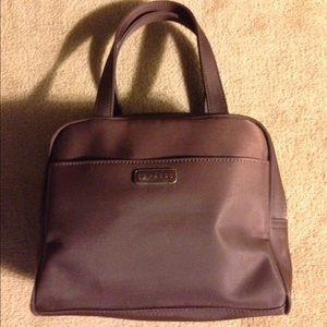 Express Handbag Zipper Tote Brown Small