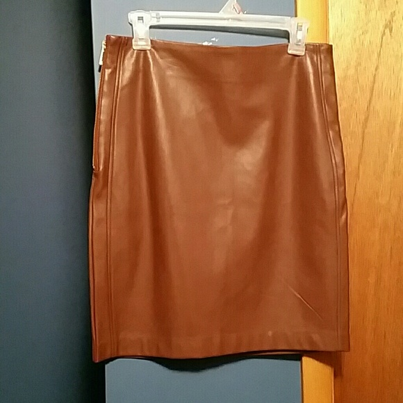c8bf747b8 Dynamite Dresses & Skirts - Dynamite cognac color faux leather skirt, new