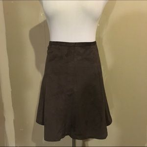 The Limited faux suede skater skirt