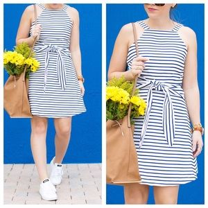 J.O.A. Dresses & Skirts - Blue Stripe Dress - AS IS (broken zipper)