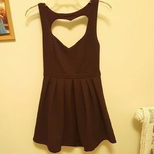 Poof Couture Dresses & Skirts - NWT Dark plum heart cutout dress