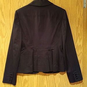 LOFT Jackets & Coats - NWT LOFT black blazer with satin lapel sz 8