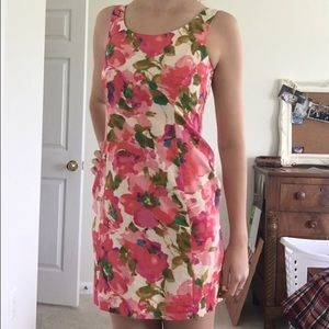 1a016ac7a4b42 ... Anthropologie Pink Floral Dress ...